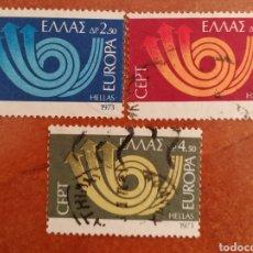 Sellos: GRECIA, EUROPA CEPT 1973 USADO (FOTOGRAFÍA REAL). Lote 213329791