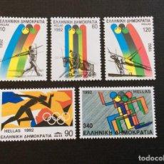 Sellos: GRECIA Nº YVERT 1779/3** AÑO 1992, JUEGOS OLIMPICOS DE BARCELONA. SERIE CON CHARNELA. Lote 221516010