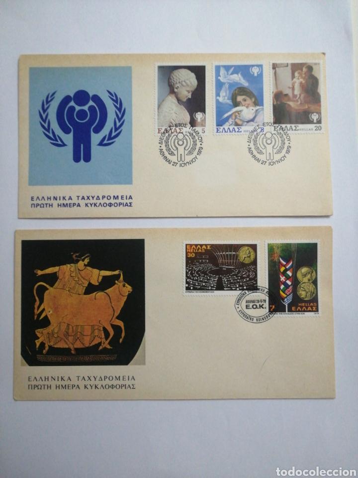 GRECIA, 2 SOBRES 1979, MUY INTERESANTES (Sellos - Extranjero - Europa - Grecia)