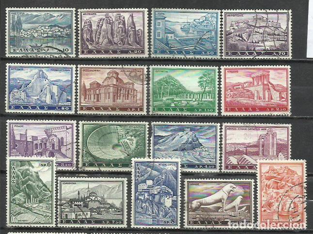 R108-SERIE COMPLETA MONUMENTOS GRECIA 1961 Nº 726/ 42 GRECIA SERIE COMPLETA USADO,BUENA CALIDAD.GREE (Sellos - Extranjero - Europa - Grecia)