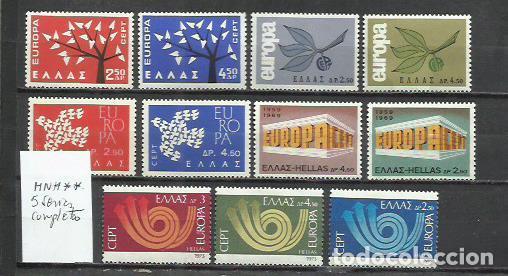 R107-LOTE SELLOS GRECIA 5 SERIES COMPLETAS MNH** NUEVOS BONOTOS. (Sellos - Extranjero - Europa - Grecia)