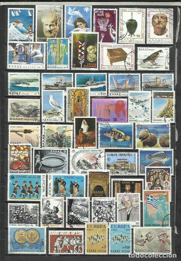 G870B-LOTE SELLOS GRECIA SIN TASAR,SIN REPETIDOS,ESCASOS. -GREECE STAMPS LOT WITHOUT PRICING WITHOUT (Sellos - Extranjero - Europa - Grecia)