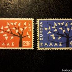 Sellos: GRECIA YVERT 774/5 SERIE COMPLETA USADA 1962. EUROPA CEPT PEDIDO MÍNIMO 3 €. Lote 277204888