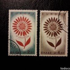 Sellos: GRECIA YVERT 835/6 SERIE COMPLETA USADA 1964 EUROPA CEPT PEDIDO MÍNIMO 3 €. Lote 277204898