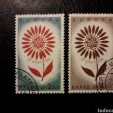 Sellos: GRECIA YVERT 835/6 SERIE COMPLETA USADA 1964 EUROPA CEPT PEDIDO MÍNIMO 3 €. Lote 277204903