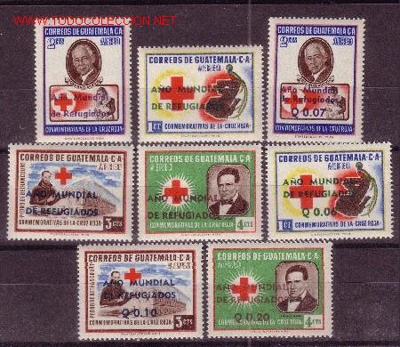 GUATEMALA AEREO 253/60** - AÑO 1960 - AÑO MUNDIAL DEL REFUGIADO (Sellos - Extranjero - América - Guatemala)