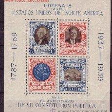 Sellos: GUATEMALA HB 1** - AÑO 1938 - 150º ANIVERSARIO DE LA CONSTITUCIÓN DE ESTADOS UNIDOS. Lote 13589888