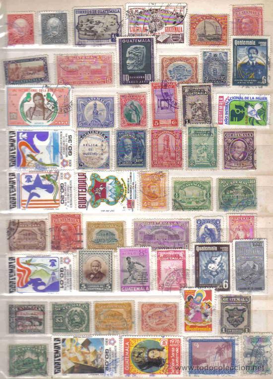 LOTE DE 100 SELLOS DE GUATEMALA USADOS (TODOS DIFERENTES) (Sellos - Extranjero - América - Guatemala)