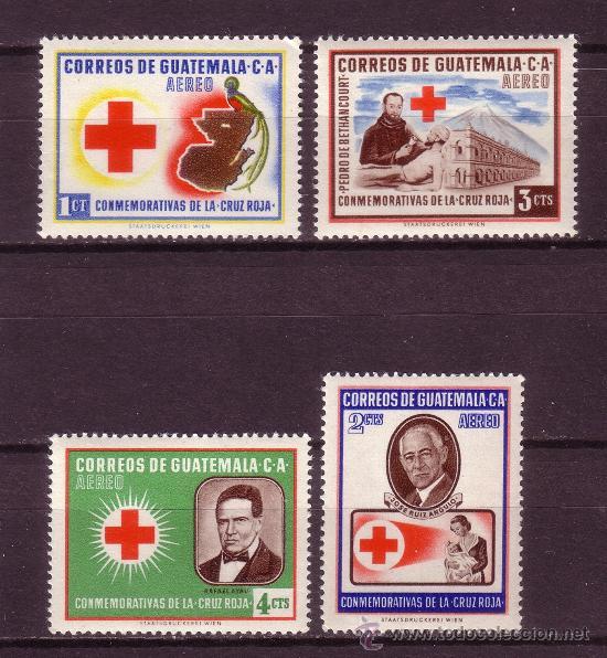 GUATEMALA AÉREO 230/33*** - AÑO 1958 - CRUZ ROJA (Sellos - Extranjero - América - Guatemala)