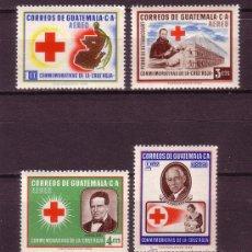 Sellos: GUATEMALA AÉREO 230/33*** - AÑO 1958 - CRUZ ROJA. Lote 18599473