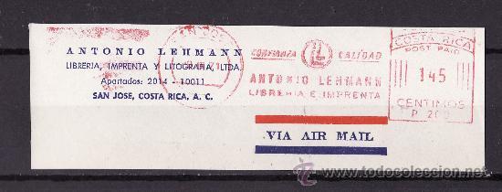 FRAGMENTOS FRANQUEO MECANICO SAN JOSE COSTA RICA TEMATICA LIBROS Y EDITORIALES (Sellos - Extranjero - América - Guatemala)