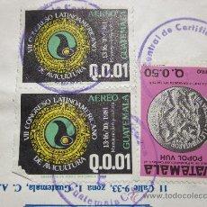Sellos: TRES SELLOS USADOS GUATEMALA. Lote 28432906