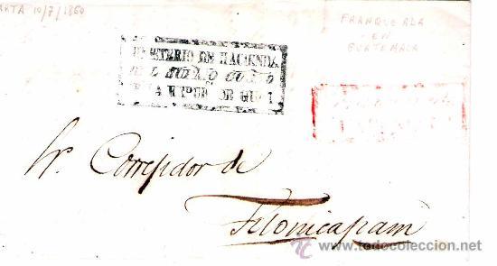 1850. H. POSTAL DE GUATEMALA. (Sellos - Extranjero - América - Guatemala)