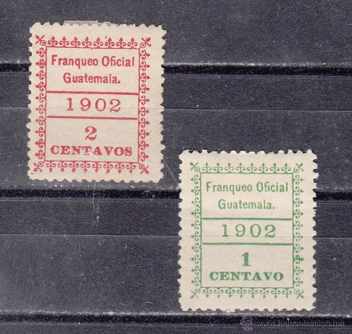 GUATEMALA SERVICIO 1/2 CON CHARNELA, (Sellos - Extranjero - América - Guatemala)
