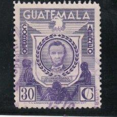 Sellos: GUATEMALA A 267 USADA, 150º ANIVERSARIO DEL NACIMIENTO DE ABRAHAM LINCOLN. Lote 43643824