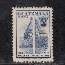 Sellos: GUATEMALA 371 USADA, DEPORTE, FUTBOL, 50º ANIVERSARIO DEL FUTBOL NACIOAL,. Lote 43643838