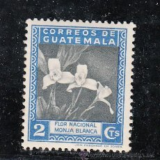 Sellos: GUATEMALA 300 CON CHARNELA, FLORES, FLOR NACIONAL MONJA NEGRA, . Lote 43643919