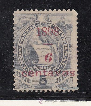 GUATEMALA 84 USADA, (Sellos - Extranjero - América - Guatemala)