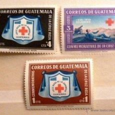 Sellos: SELLOS GUATEMALA 1959. CRUZ ROJA. NUEVOS.. Lote 47596626