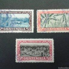 Sellos: SELLOS DE GUATEMALA. YVERT 359/61. SERIE COMPLETA USADA.. Lote 53263139