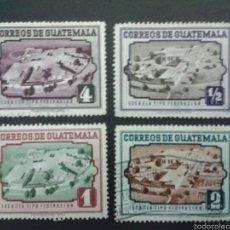Sellos: SELLOS DE GUATEMALA. YVERT 351/4. SERIE COMPLETA USADA.. Lote 53263165
