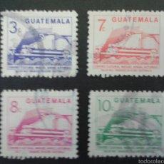 Sellos: SELLOS DE GUATEMALA. YVERT 451/4. SERIE COMPLETA USADA. . Lote 53263215