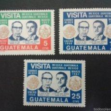 Sellos: SELLOS DE GUATEMALA. YVERT A 427/9. SERIE COMPLETA NUEVA SIN CHARNELA.. Lote 53327701
