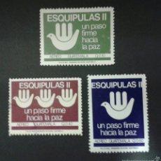 Sellos: SELLOS DE GUATEMALA. YVERT A 824/6. SERIE COMPLETA USADA. ( UN SELLO NUEVO CON CHARNELA).. Lote 53327725