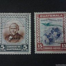 Sellos: SELLOS DE GUATEMALA. YVERT A 141/2. SERIE COMPLETA USADA.. Lote 53327735