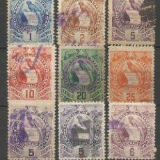 Sellos: GUATEMALA 1886-95 CONJUNTO DE SELLOS EMBLEMA NACIONAL USADOS. Lote 57969918