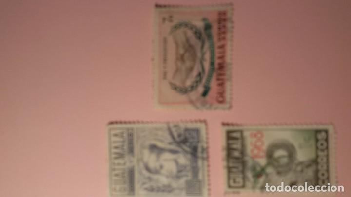 LOTE 3 ELLOS GUATEMALA.AÑOS 70.CIRCULADOS (Sellos - Extranjero - América - Guatemala)
