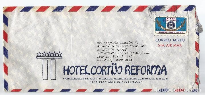 GUATEMALA CORREO AÉREO 1976 HISTORIA POSTAL. SOBRE VOLADO DESDE GUATEMALA A COLOMBIA (Sellos - Extranjero - América - Guatemala)