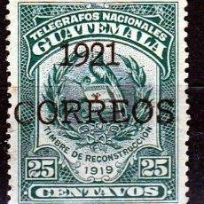 Sellos: GUATEMALA 1921 SELLO DE TELÉGRAFOS DE 1919 SOBRECARGADO: 1921 CORREOS.(17-51 ). Lote 73675879