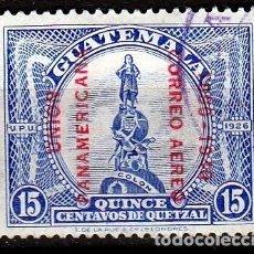 Sellos: GUATEMALA. 1940. 50º ANIVERSARIO DE LA UNIÓN PANAMERICANA. SOBRECARGADO. AÉREO. *MH(17-53 ). Lote 73676327