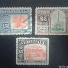 Sellos: SELLOS DE GUATEMALA. YVERT 175/7. SERIE COMPLETA USADA. . Lote 85474178