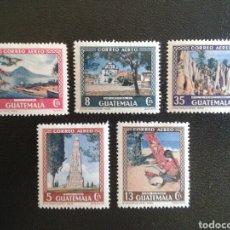 Sellos: GUATEMALA. YVERT A-168/72. SERIE COMPLETA NUEVA CON CHARNELA.. Lote 85584203