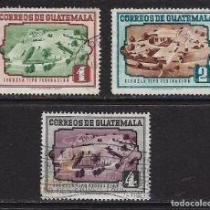 Sellos: GUATEMALA. YVERT NSº 352/54 NUEVO Y USADOS. DEFECTUOSOS. Lote 88195272