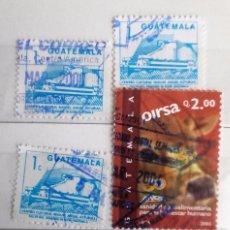 Sellos: GUATEMALA, 5 SELLOS USADOS . Lote 93676255