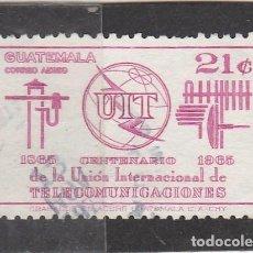 Sellos: GUATEMALA 1965 - CENTENARIO U.I.T. - USADO. Lote 95707335
