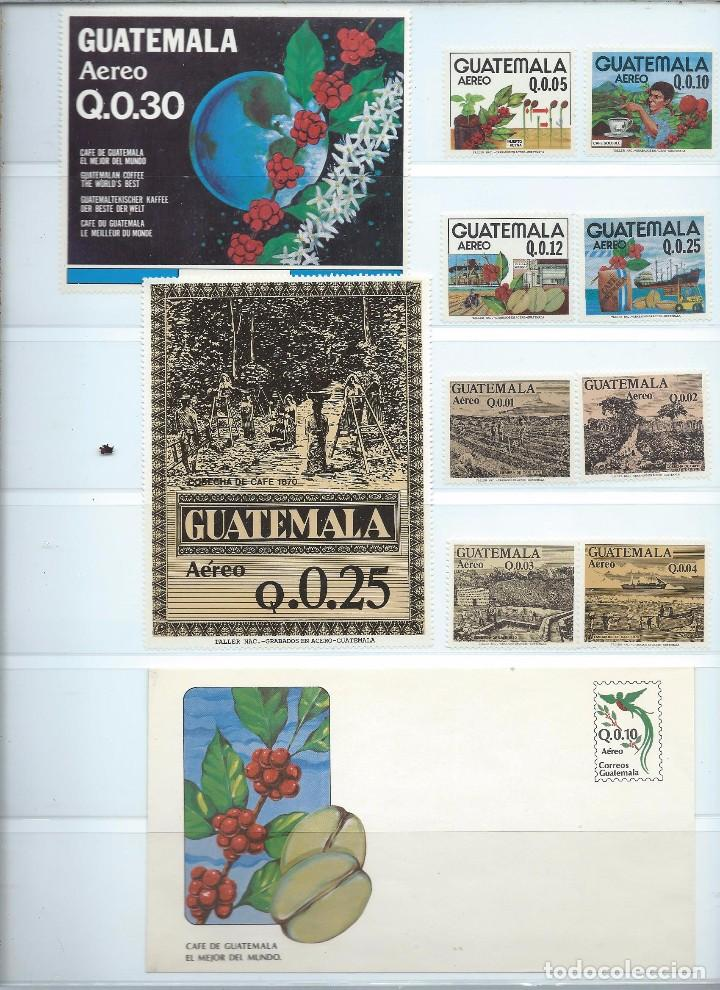 SELLOS AÉREOS NUEVOS DE GUATEMALA DE LA SERIE: LA COSECHA DEL CAFÉ 1870 (Sellos - Extranjero - América - Guatemala)