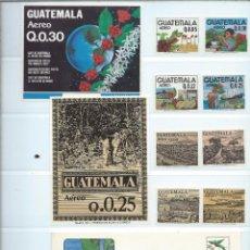 Sellos: SELLOS AÉREOS NUEVOS DE GUATEMALA DE LA SERIE: LA COSECHA DEL CAFÉ 1870. Lote 195457690