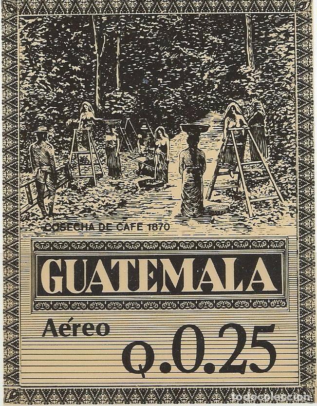 Sellos: Sellos aéreos nuevos de Guatemala de la serie: La Cosecha del Café 1870 - Foto 3 - 195457690