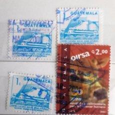 Sellos: GUATEMALA, 5 SELLOS USADOS . Lote 100478995