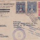 Sellos: CARTA DE GUATEMALA A JEREZ, CON SELLO 233, 309 Y A64 EN PAREJA. Lote 111012879