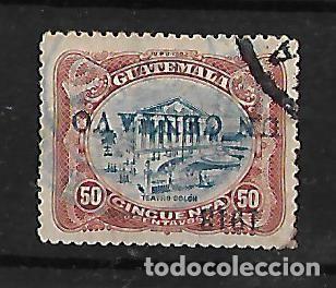 GUATEMALA 1913 SELLO DE 1902 CON SOBRECARGA INVERTIDA MUY RARO (Sellos - Extranjero - América - Guatemala)