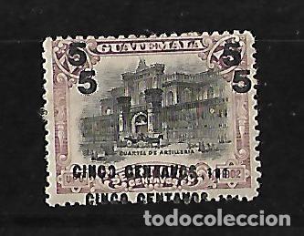 GUATEMALA 1912 SELLO DE 1902 CON DOBLE SOBRECARGA Y ERROR 191 EN VEZ DE 1912 (Sellos - Extranjero - América - Guatemala)