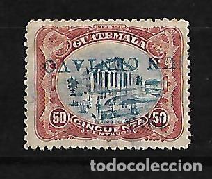 GUATEMALA 1913 SELLO DE 1902 CON SOBRECARGA INVERTIDA (Sellos - Extranjero - América - Guatemala)