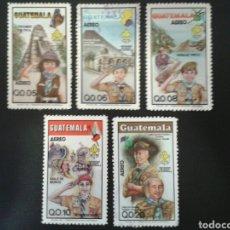 Sellos: GUATEMALA. YVERT A-793/7. SERIE COMPLETA MEZCLA USADOS, SIN GOMA Y NUEVO ***. SCOUTS.. Lote 114058338