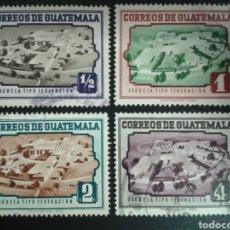 Sellos: GUATEMALA. YVERT 351/4. SERIE COMPLETA USADA.. Lote 114058699