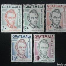 Timbres: GUATEMALA. YVERT A-380/4. SERIE COMPLETA NUEVA SIN CHARNELA. MANCHAS DEL TIEMPO. A. LINCOLN.. Lote 114061792